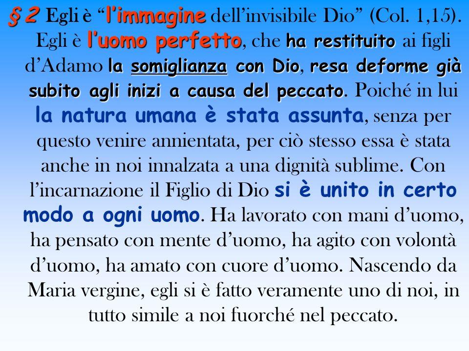 § 2 Egli è l'immagine dell'invisibile Dio (Col. 1,15)