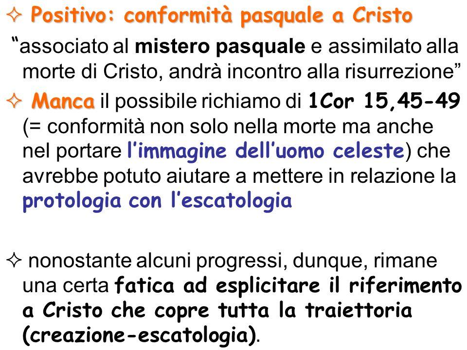 Positivo: conformità pasquale a Cristo