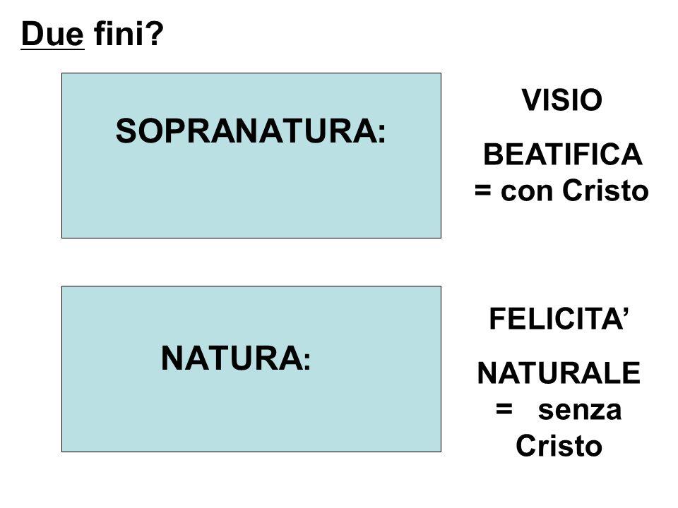 NATURALE = senza Cristo