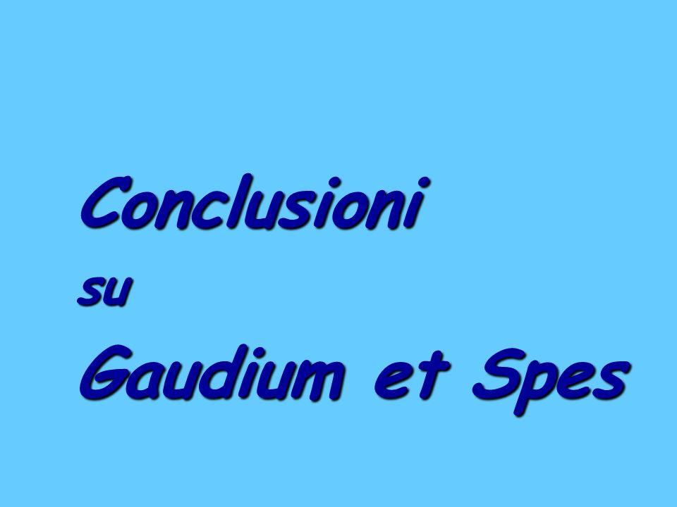 Conclusioni su Gaudium et Spes