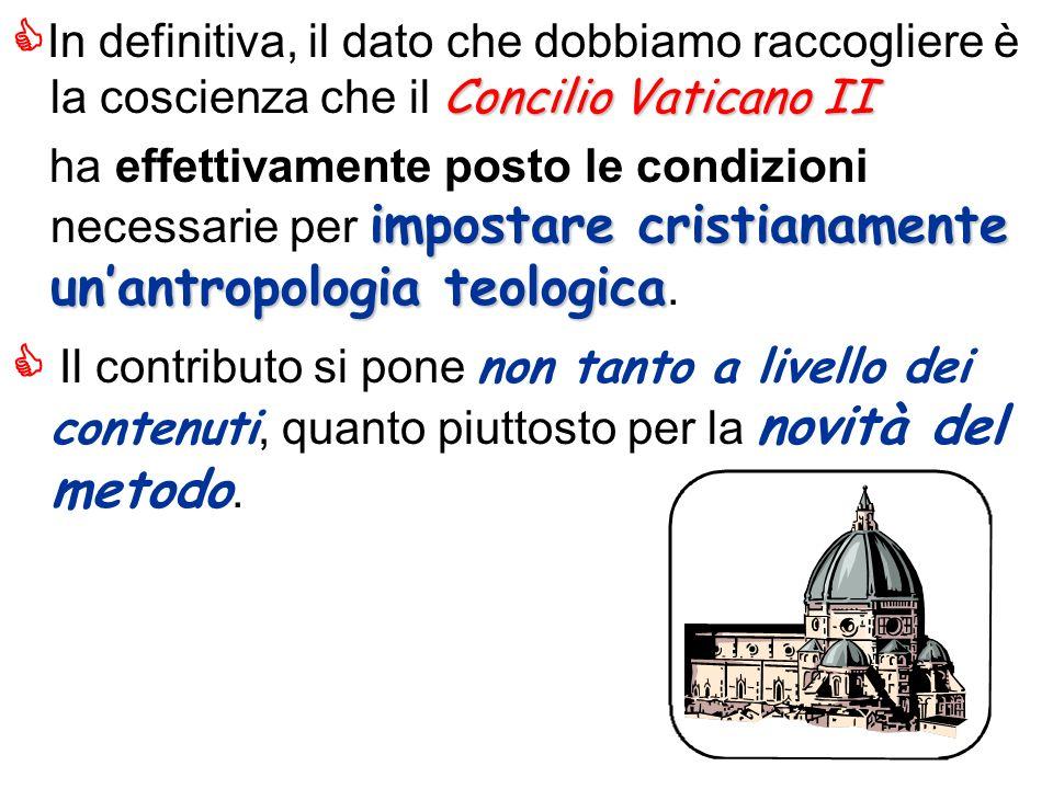 In definitiva, il dato che dobbiamo raccogliere è la coscienza che il Concilio Vaticano II
