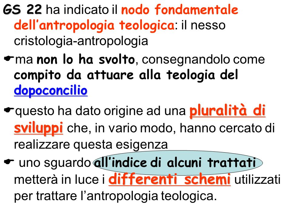 GS 22 ha indicato il nodo fondamentale dell'antropologia teologica: il nesso cristologia-antropologia