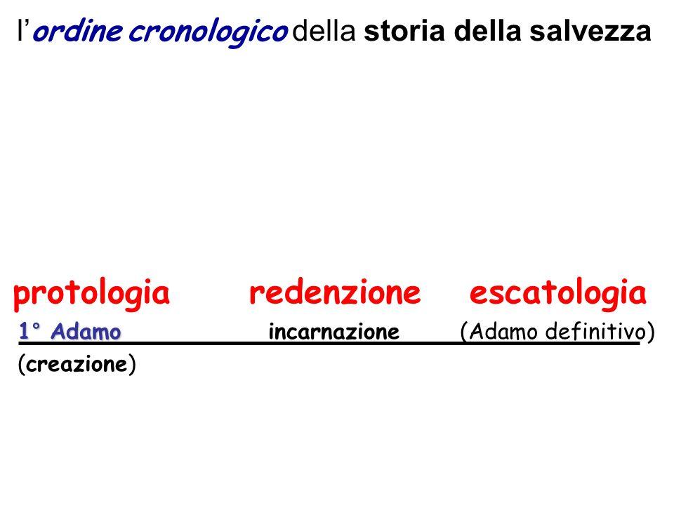l'ordine cronologico della storia della salvezza