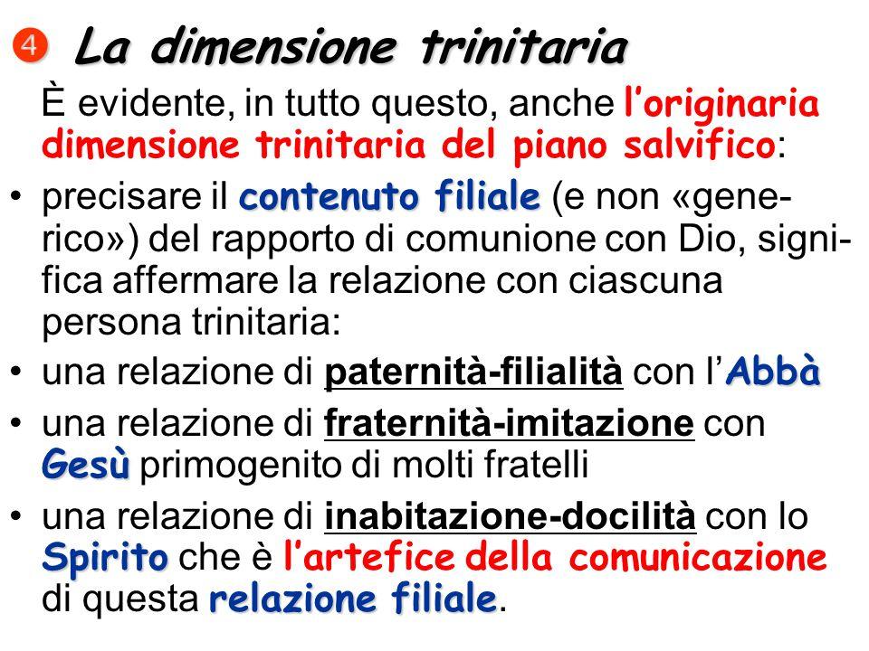 La dimensione trinitaria