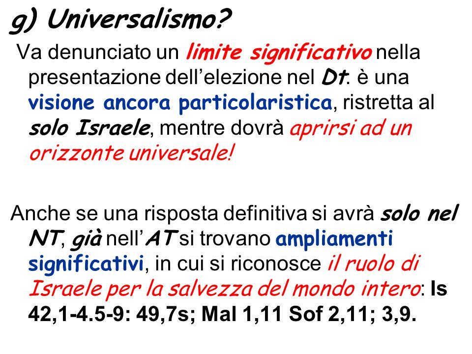 g) Universalismo