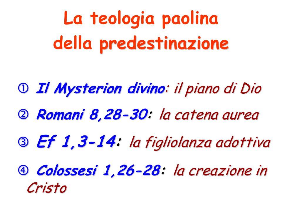 della predestinazione