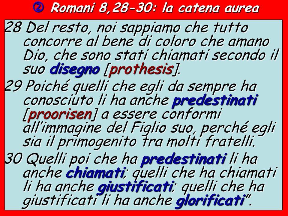  Romani 8,28-30: la catena aurea