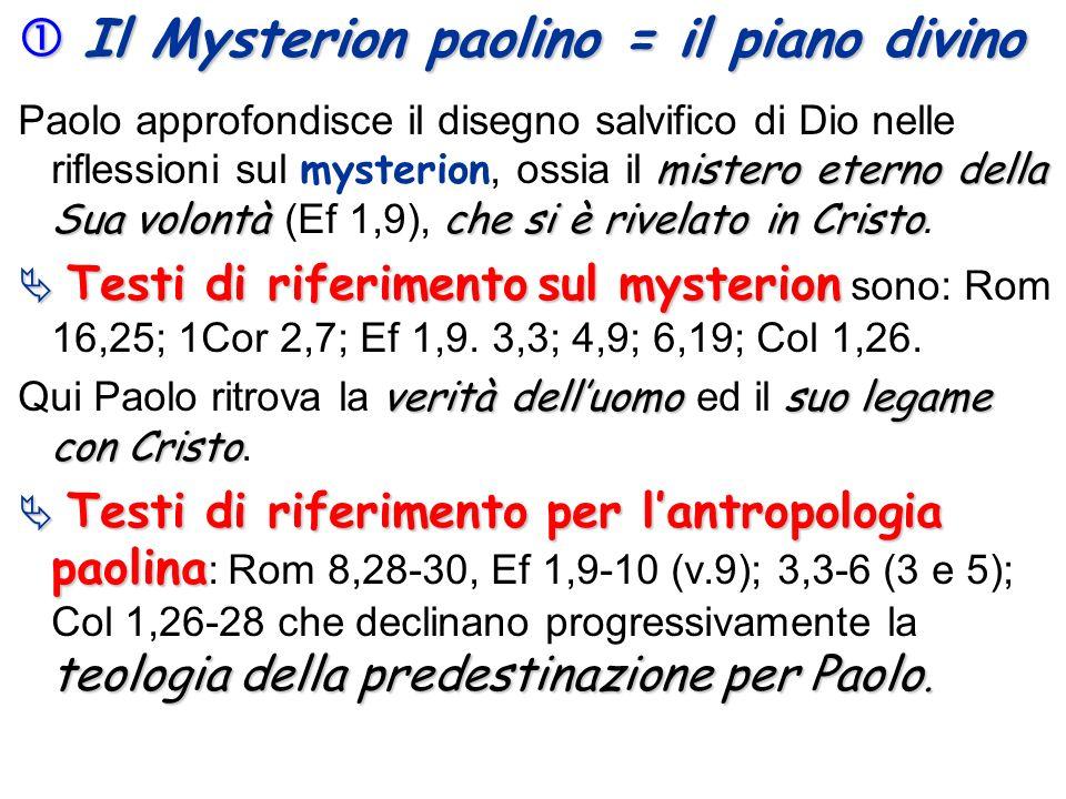  Il Mysterion paolino = il piano divino