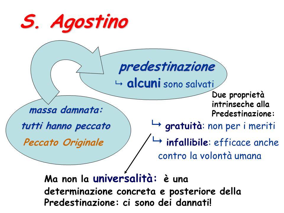 S. Agostino predestinazione  alcuni sono salvati massa damnata: