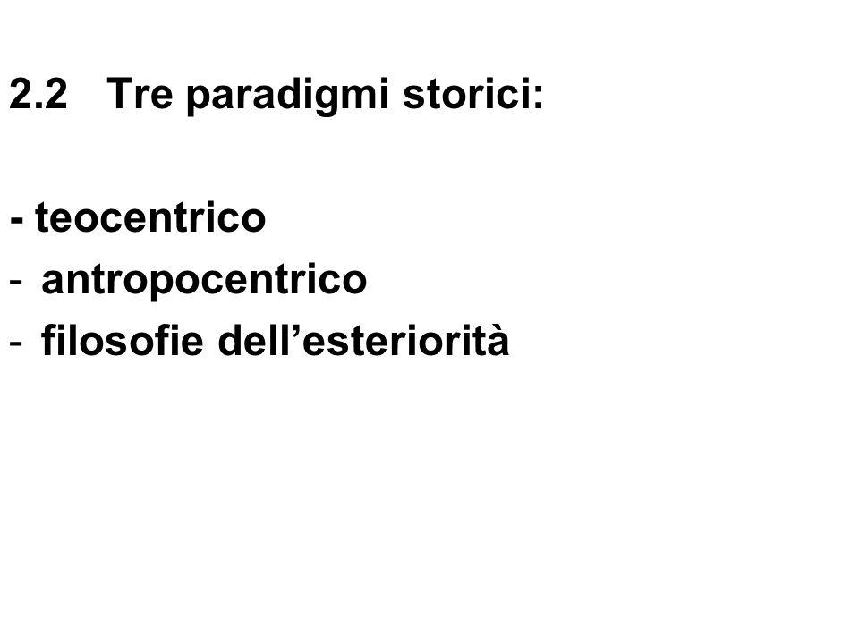 2.2 Tre paradigmi storici: