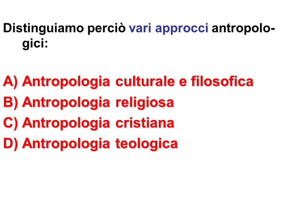 Antropologia culturale e filosofica Antropologia religiosa