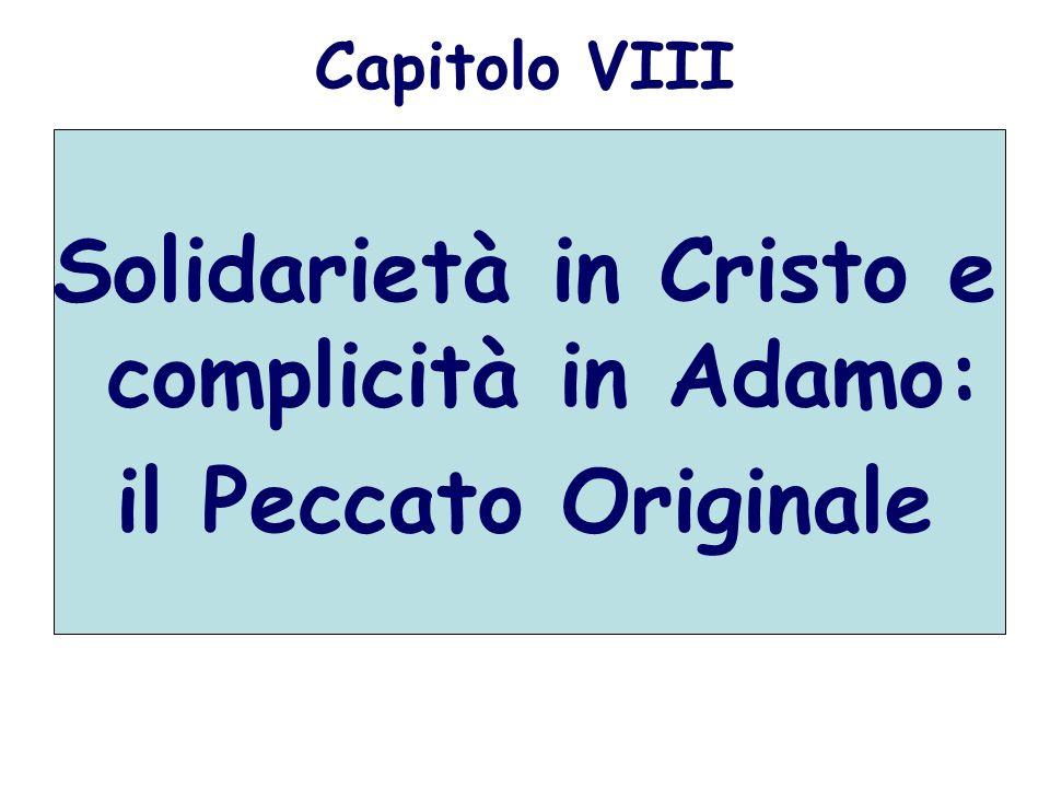Solidarietà in Cristo e complicità in Adamo: