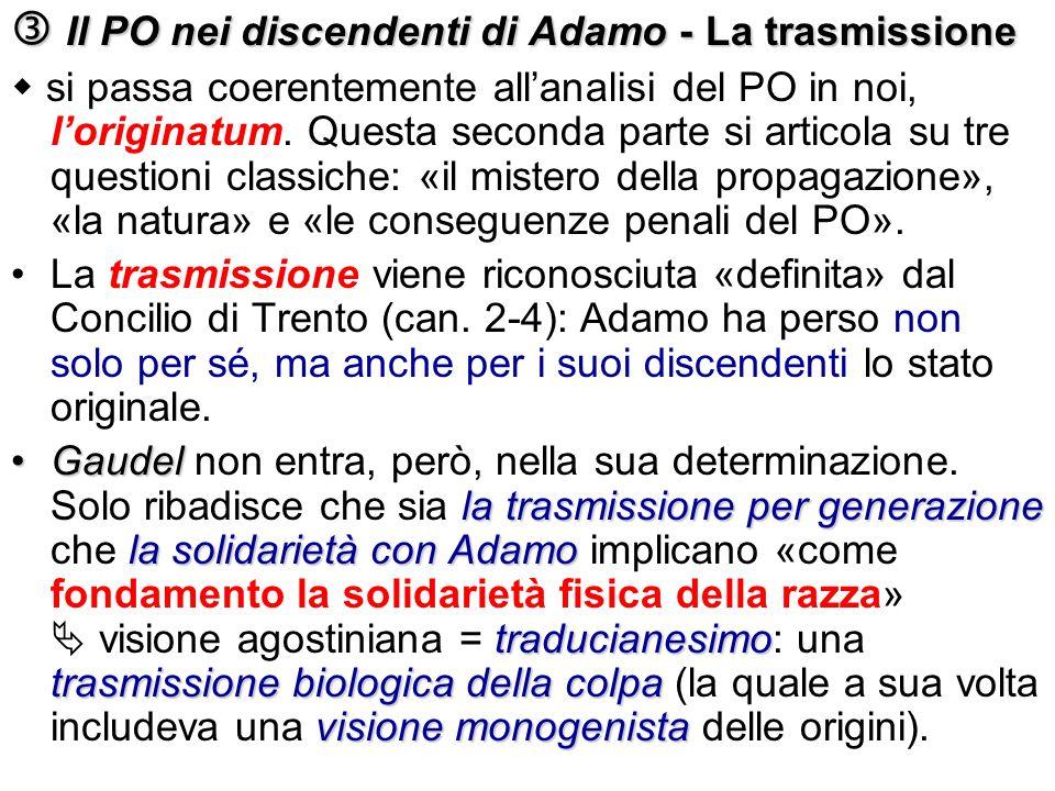  Il PO nei discendenti di Adamo - La trasmissione