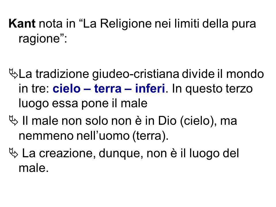 Kant nota in La Religione nei limiti della pura ragione :