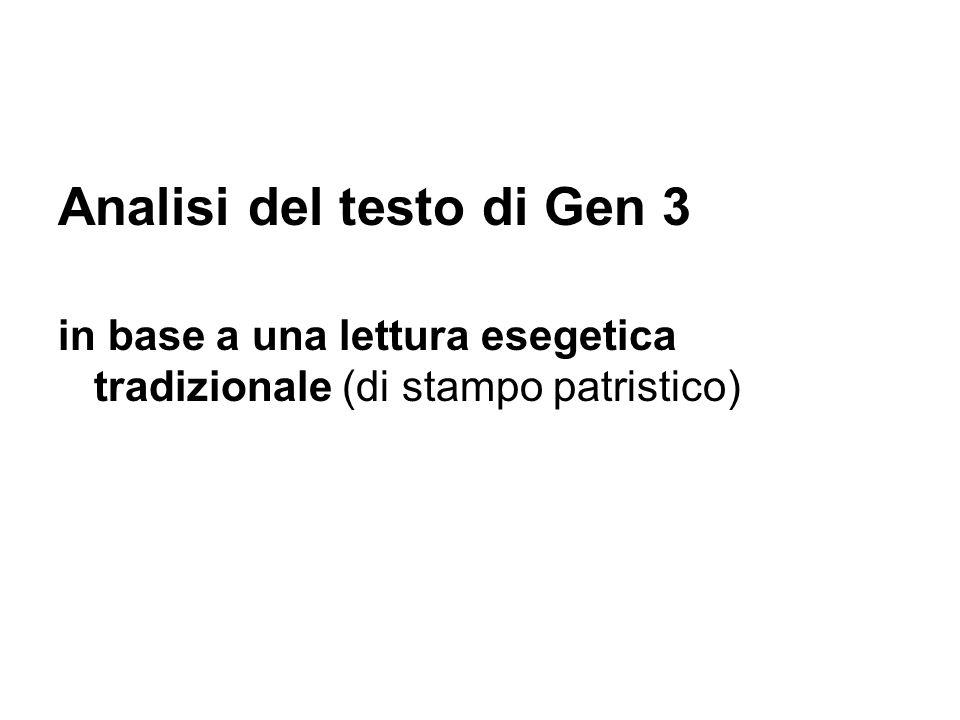 Analisi del testo di Gen 3