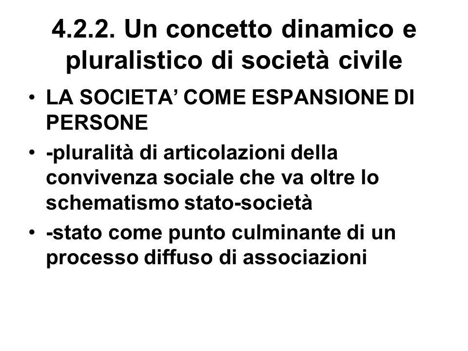 4.2.2. Un concetto dinamico e pluralistico di società civile