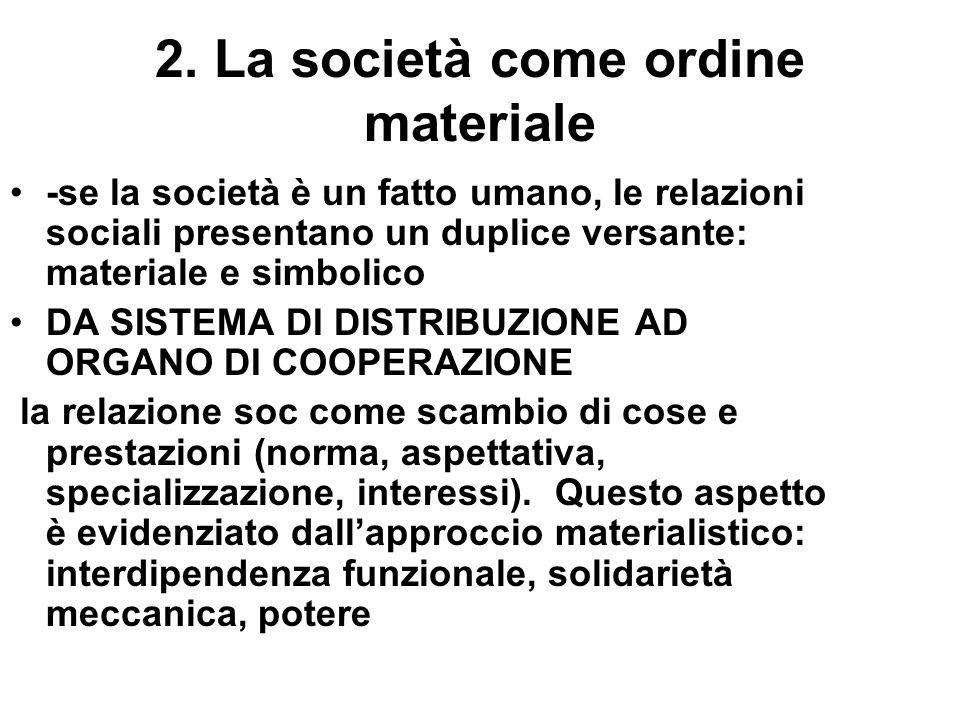 2. La società come ordine materiale
