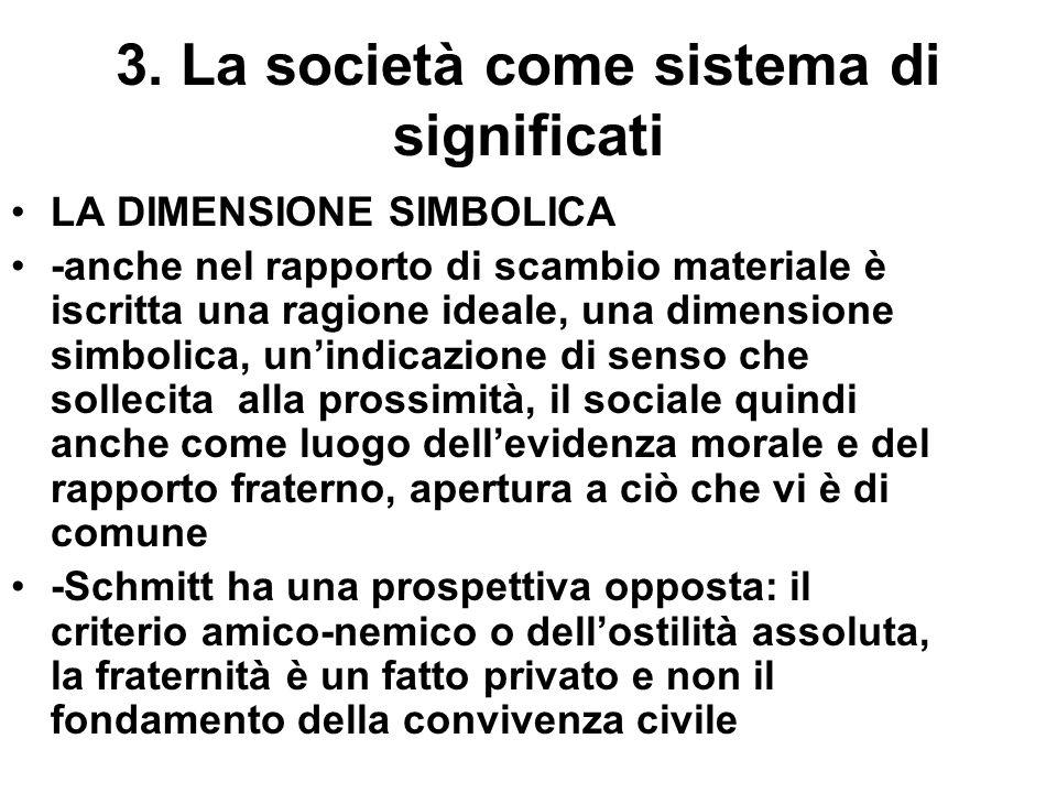 3. La società come sistema di significati