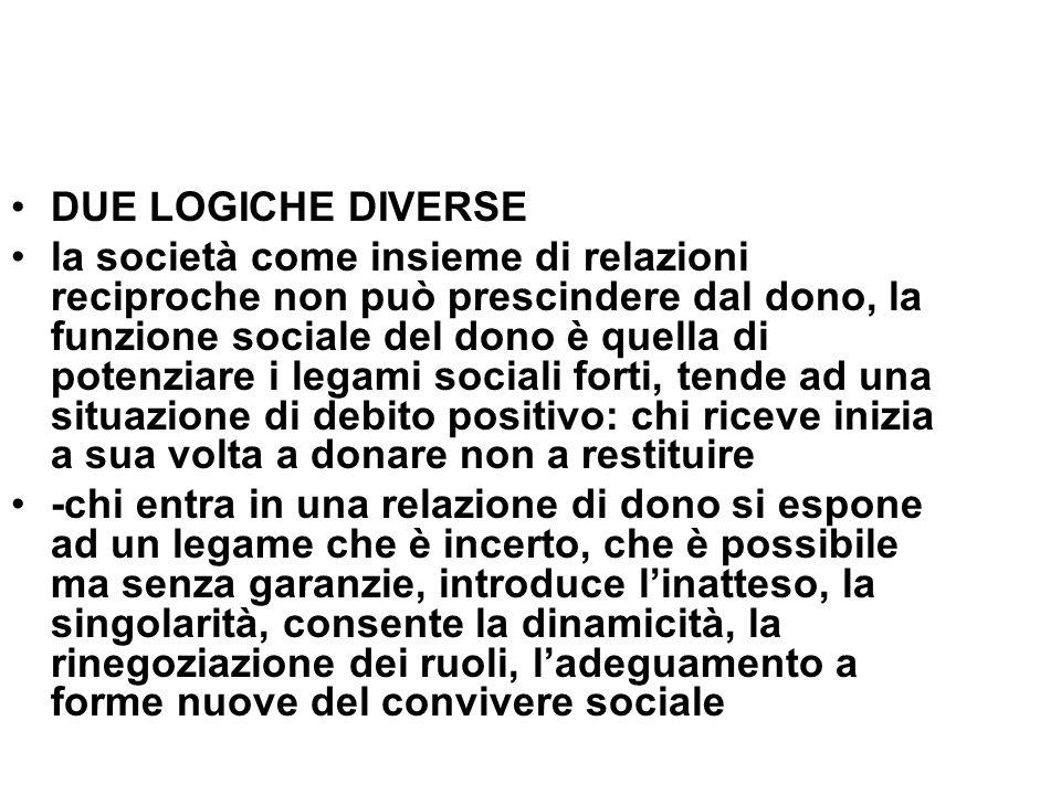 DUE LOGICHE DIVERSE
