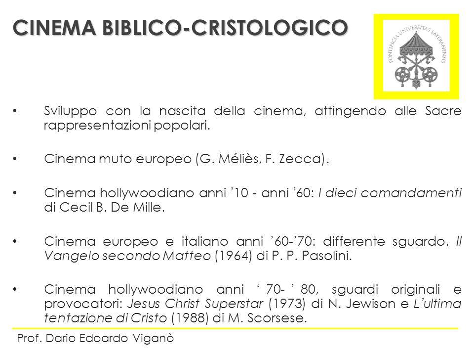 CINEMA BIBLICO-CRISTOLOGICO