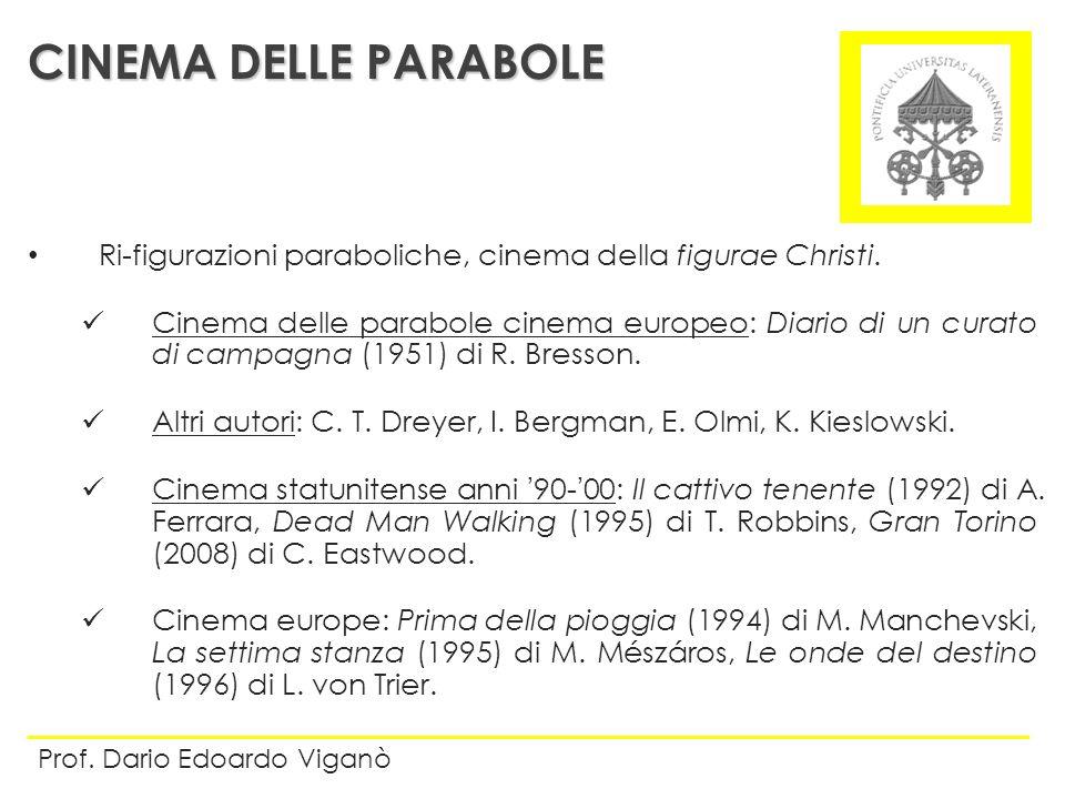 CINEMA DELLE PARABOLE Ri-figurazioni paraboliche, cinema della figurae Christi.