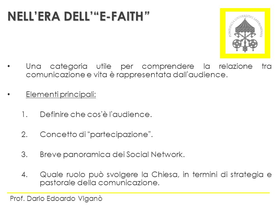 NELL'ERA DELL' E-FAITH