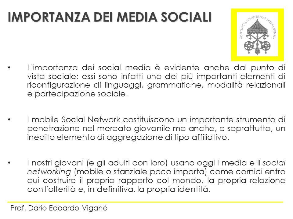 IMPORTANZA DEI MEDIA SOCIALI