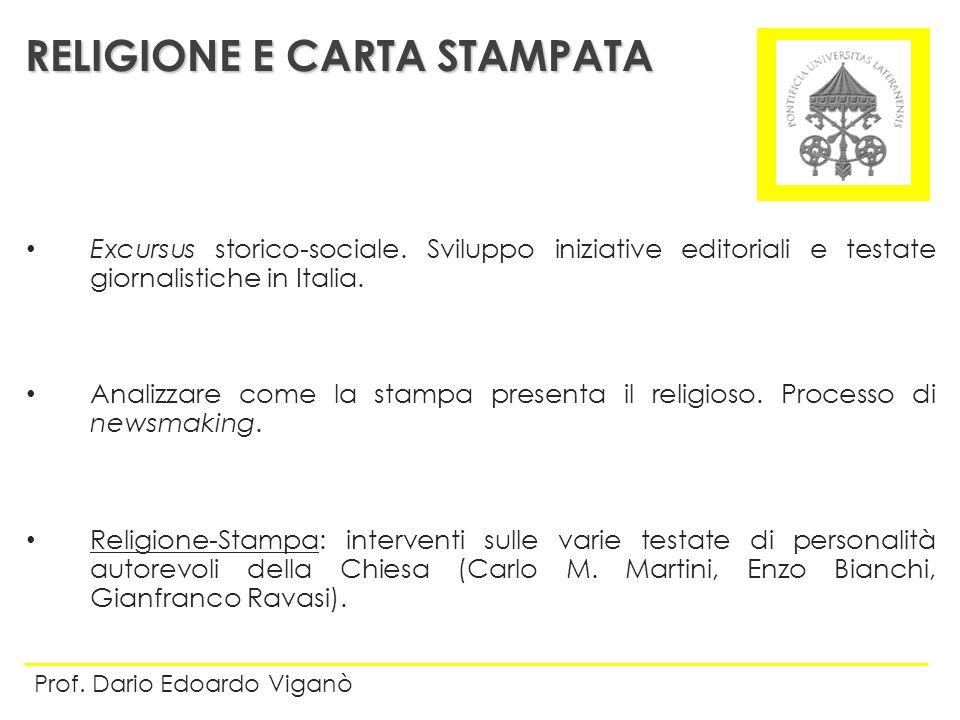 RELIGIONE E CARTA STAMPATA