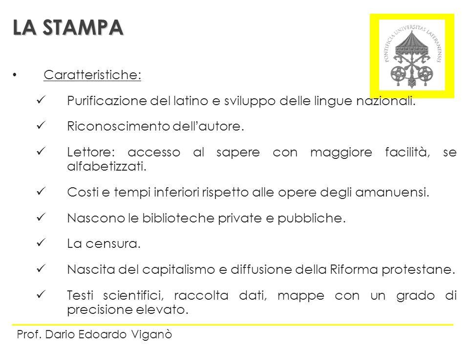 LA STAMPA Caratteristiche: