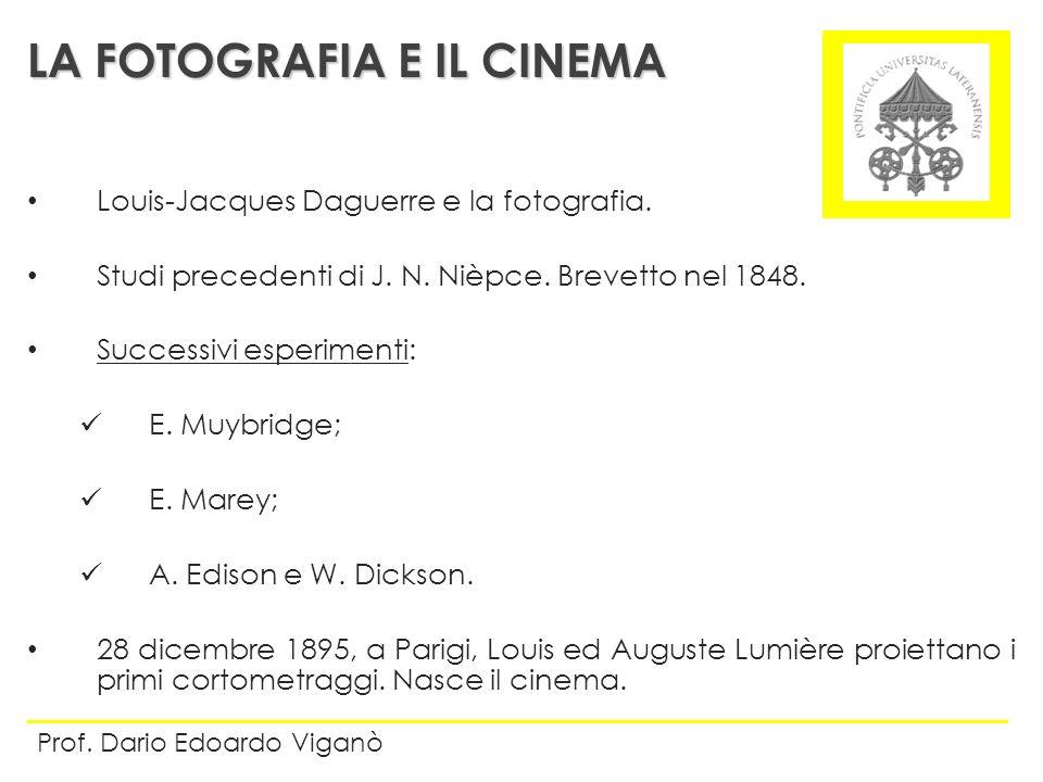 LA FOTOGRAFIA E IL CINEMA