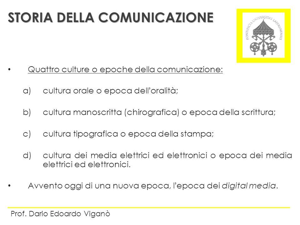 STORIA DELLA COMUNICAZIONE