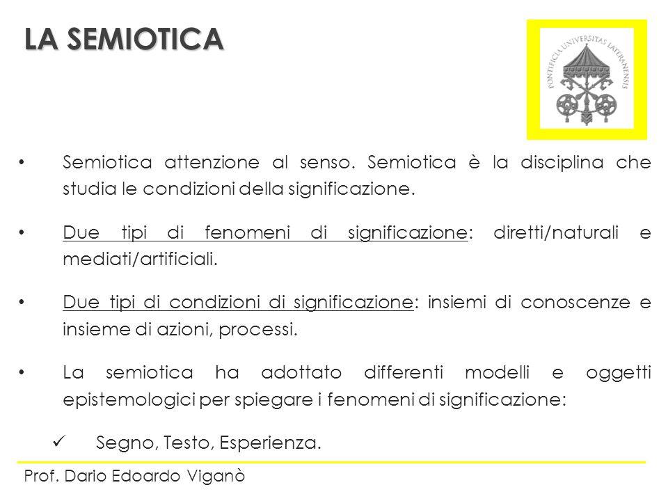 LA SEMIOTICA Semiotica attenzione al senso. Semiotica è la disciplina che studia le condizioni della significazione.