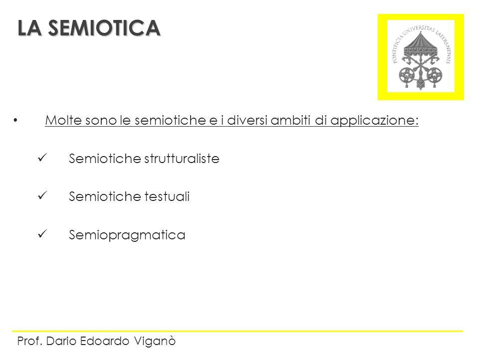 LA SEMIOTICA Molte sono le semiotiche e i diversi ambiti di applicazione: Semiotiche strutturaliste.