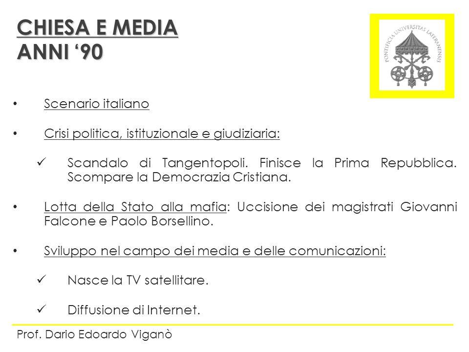 CHIESA E MEDIA ANNI '90 Scenario italiano
