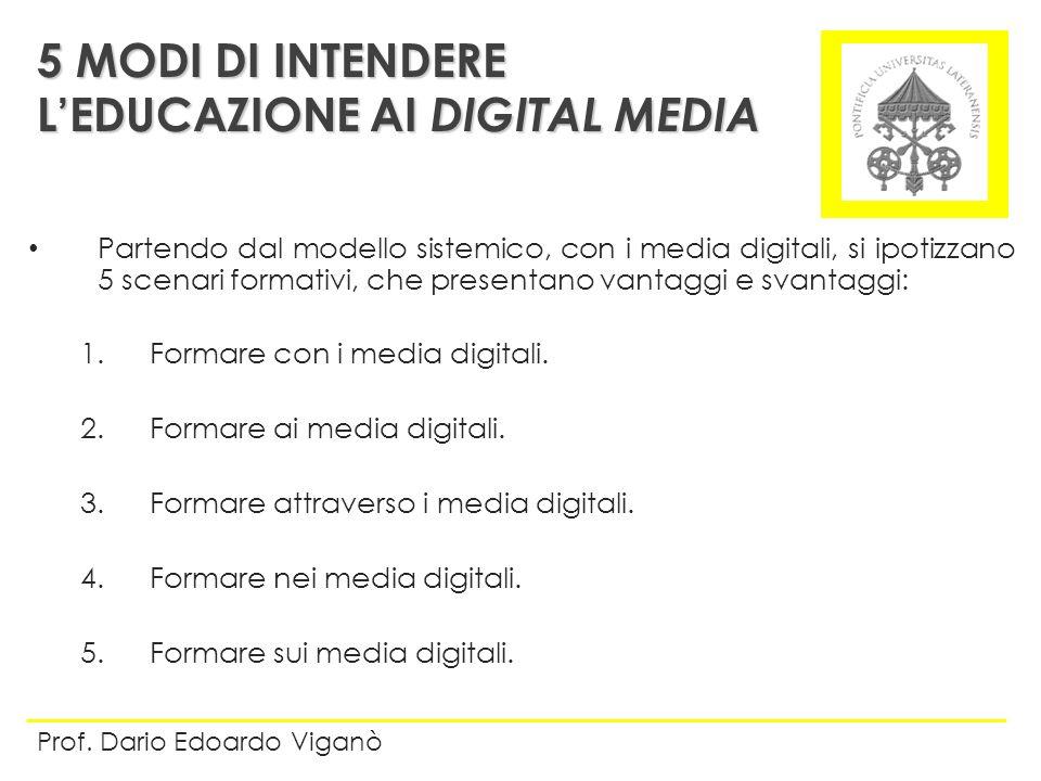 5 MODI DI INTENDERE L'EDUCAZIONE AI DIGITAL MEDIA