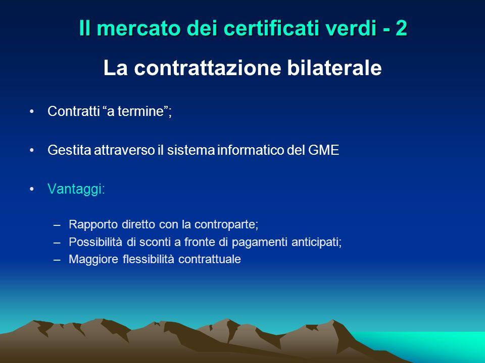 Il mercato dei certificati verdi - 2