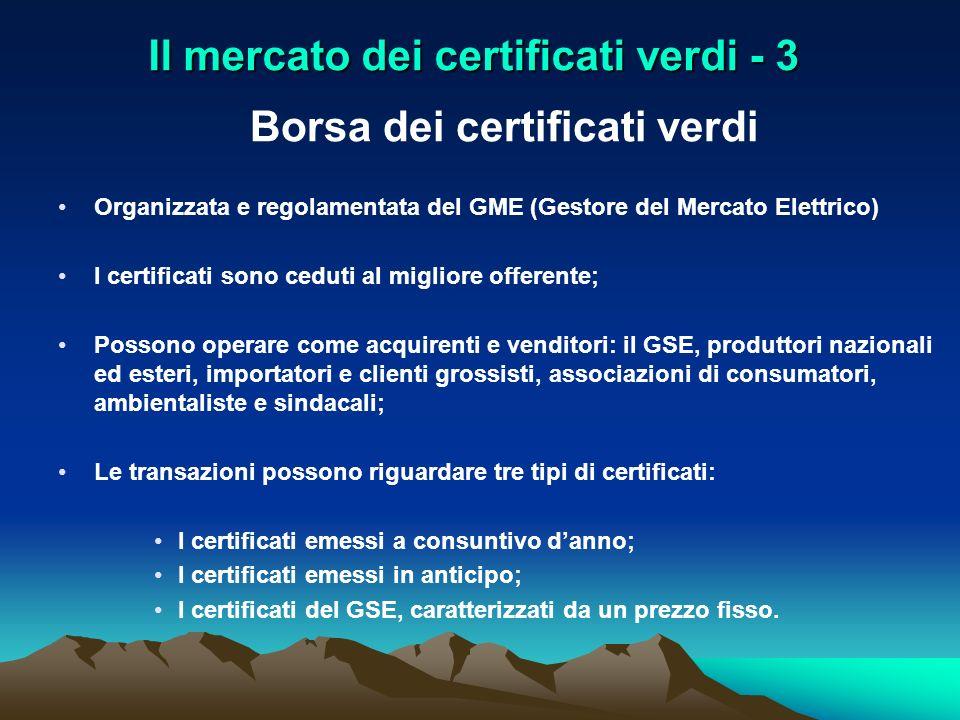 Il mercato dei certificati verdi - 3