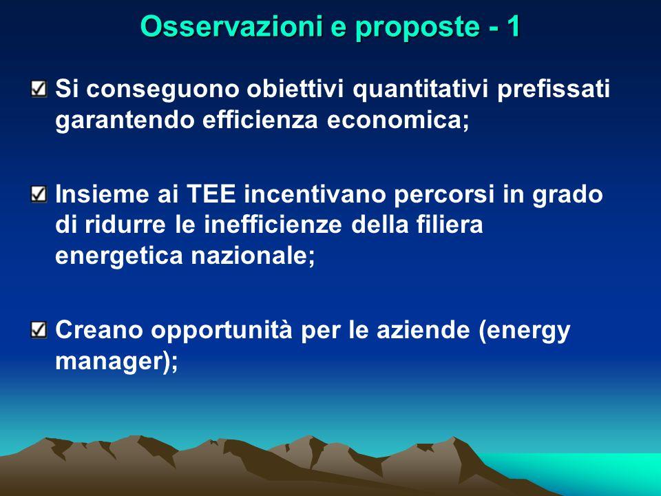 Osservazioni e proposte - 1