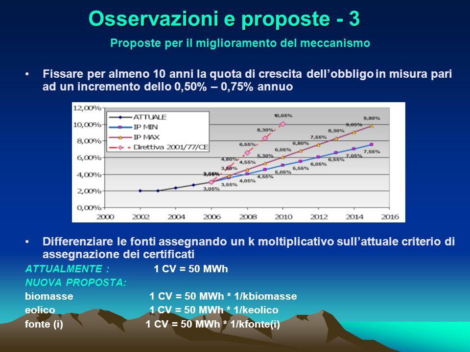 Osservazioni e proposte - 3