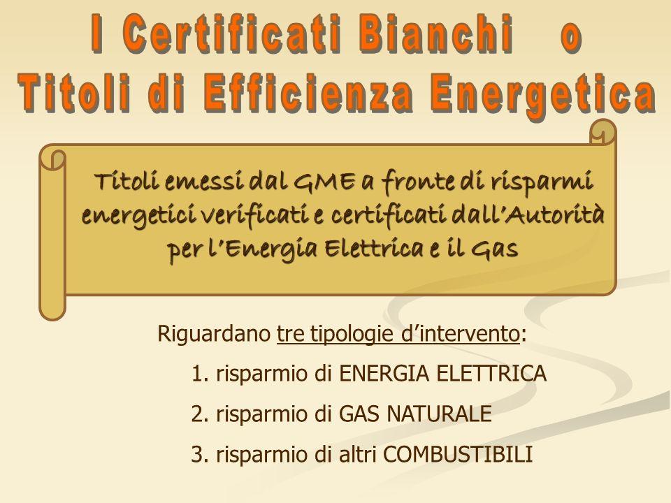 I Certificati Bianchi o Titoli di Efficienza Energetica