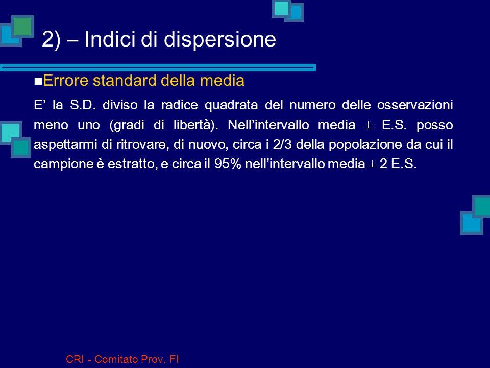 2) – Indici di dispersione