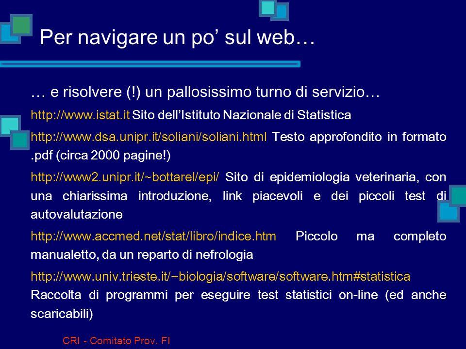 Per navigare un po' sul web…
