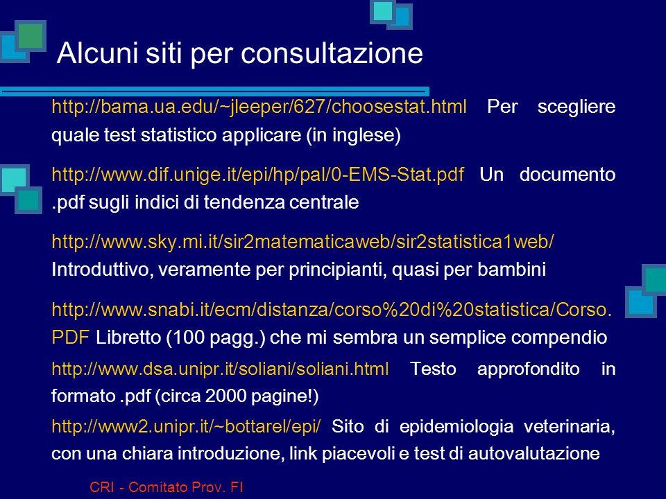 Alcuni siti per consultazione