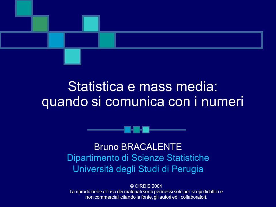 Statistica e mass media: quando si comunica con i numeri