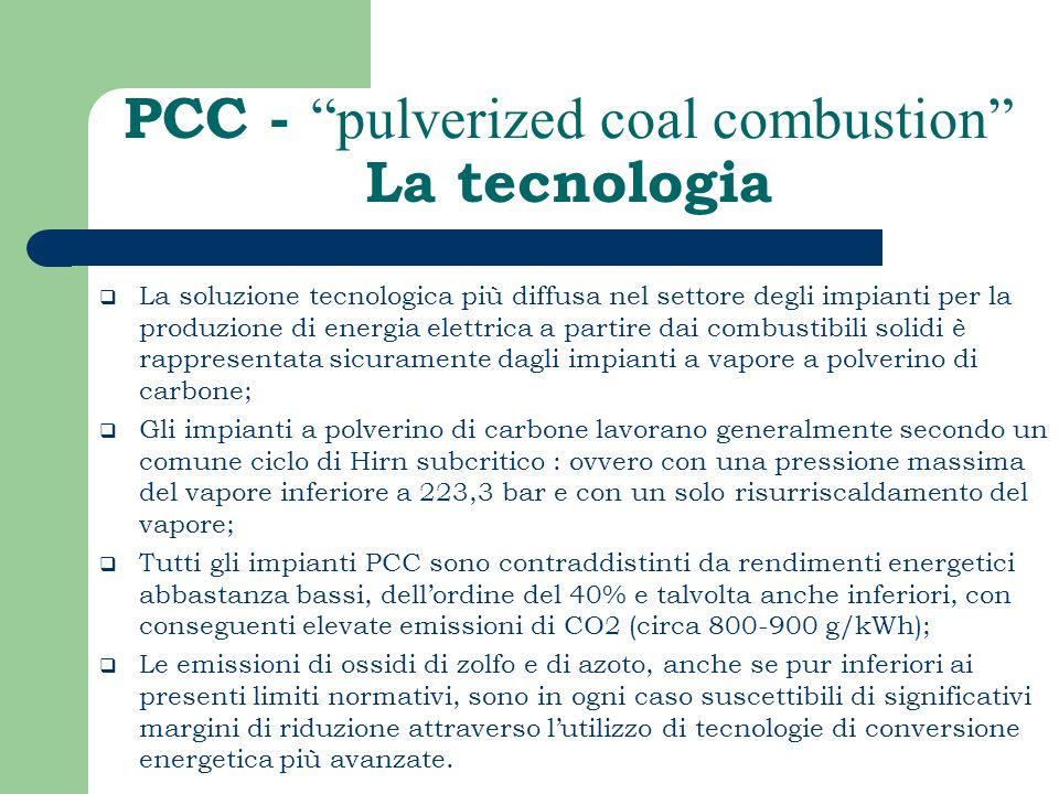 PCC - pulverized coal combustion La tecnologia