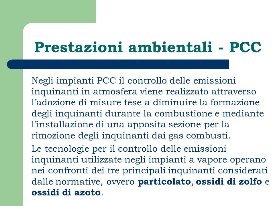 Prestazioni ambientali - PCC