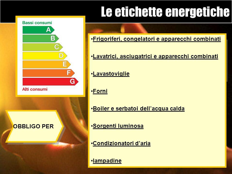 Le etichette energetiche