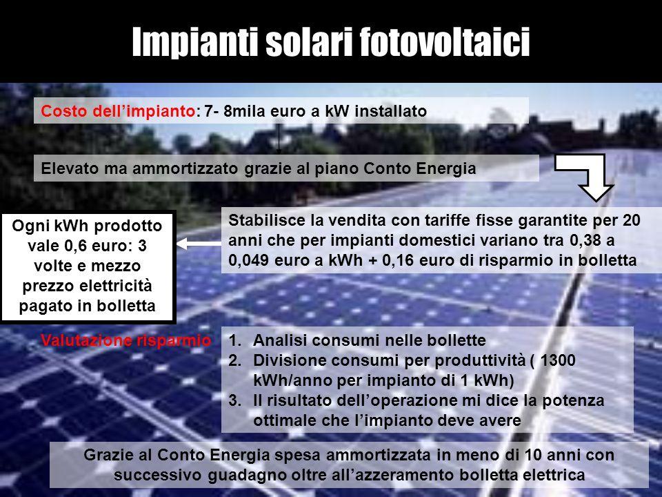 Impianti solari fotovoltaici