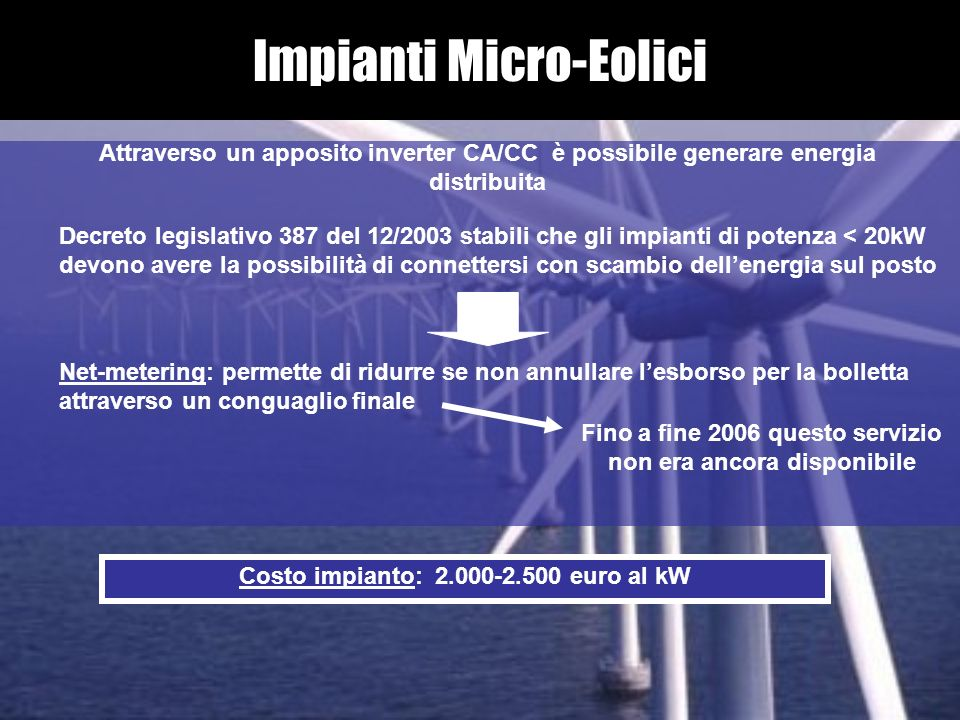 Impianti Micro-Eolici
