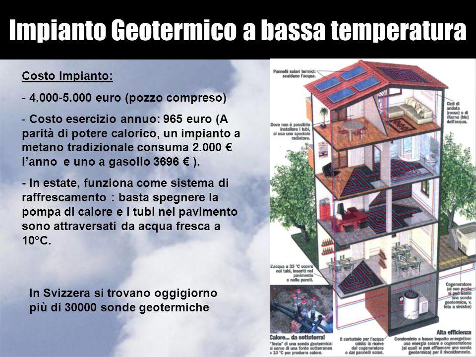 Impianto Geotermico a bassa temperatura